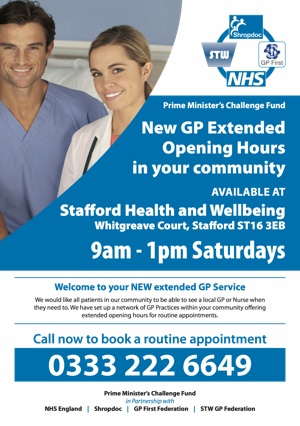GP Extended Opening Hours in your community